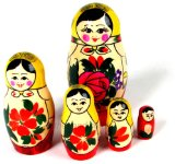 Matryoshka Dolls - 5 Nest