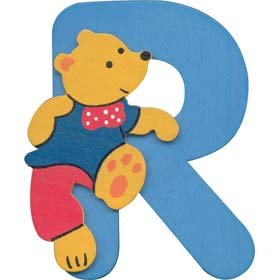 Tobar Wooden teddy bear alphabet letter R Creative Toy - review ...