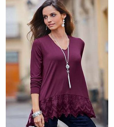 Together Lace Hem Top