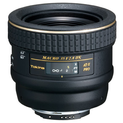 The Tokina PRO DX AF 35mm f2.8 Macro is a Nikon Fit and when used on digital SLR cameras it gives the same angle of view as a 52mm lens. The Tokina M35 takes you to an amazing closeness of 5.5 (14cm) yielding a macro ratio of 1:1 life-size reproducti - CLICK FOR MORE INFORMATION