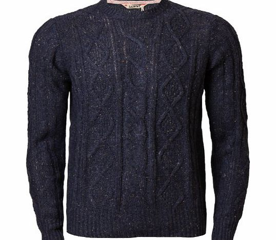Tokyo Laundry Mens Jumper Tokyo Laundry 1A3149 Wool Mix Casual Sweater Neppy Knitwear Pullover, Denim, X-Large