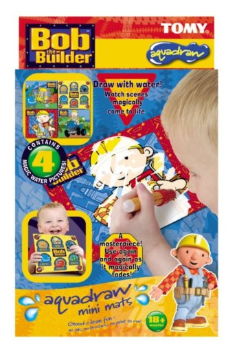 Tomy Aqua Draw Mini Mats - Bob the Builder
