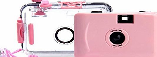 Tonsee® Tonsee Underwater Disposable Waterproof Mini 35mm Film Camera (Pink)