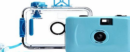 Tonsee® Tonsee Underwater Disposable Waterproof Mini 35mm Film Camera (Sky Blue)