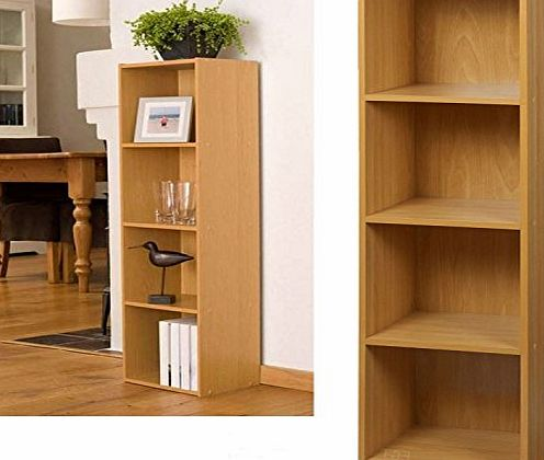 Top Home Solutions 4 Tier Wooden Bookcase Storage Shelving Unit product image