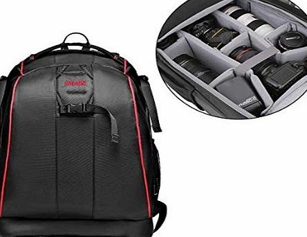 TOP-MAX Portable Camera Bag Backpack Organizer for Digital SLR DSLR Canon Nikon Sony Camera Messenger Shoulder Bag Caden K7 Cool Black
