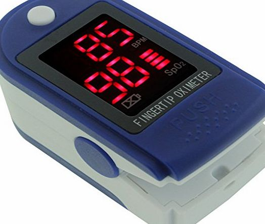 Toprime OLED Display Pulse Oximeter Fingertip Blood Oxygen Meter SPO2 Heart Rate Monitor Suitable for All Age