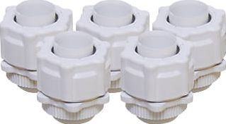Tower, 1228[^]79890 Corrugated Conduit Adaptors White 20mm Pack of 5