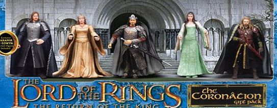 Toy Biz Coronation Gift Pack featuring exclusive Faramir and Eowyn (Lord of the Rings)