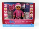 Tiny Tears Classic Deluxe Set. Doll, Clothes and Accessories