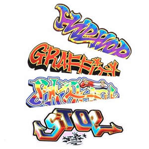 Graffiti Temporary Tattoo