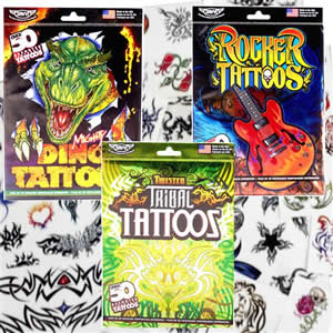 Set of 50 Temporary Tattoos