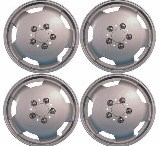 15`` Silver Wheel Trims For Van/Motorhome - Commercial Heavy Duty Set Of 4 Wheel Covers