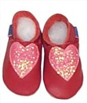 Heart Slippers - 0-6 months - CLICK FOR MORE INFORMATION
