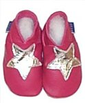 Pink Star Slippers - 0-6 months - CLICK FOR MORE INFORMATION