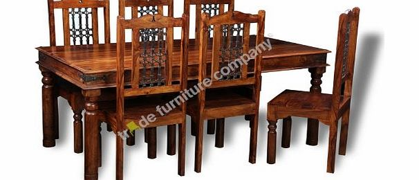 Trade Furniture Company Jali Indian Furniture Dining Table Amp 6 Jali Chairs Dining Room