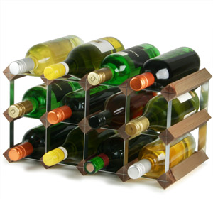 Wooden Wine Racks - Dark Oak (2x4