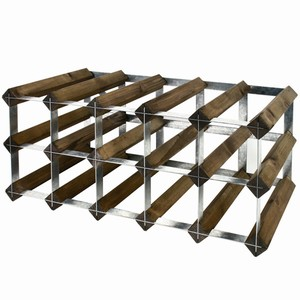 Wooden Wine Racks - Dark Oak (3x4