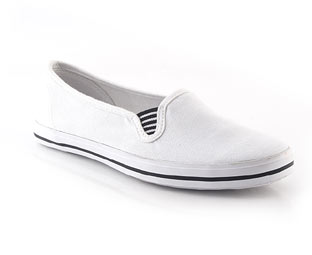 Canvas Slip On Pump