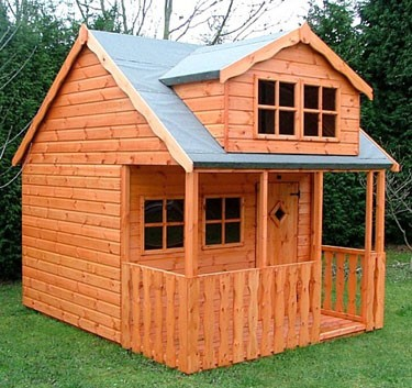 Wooden playhouses shed plans free 12x12 personal storage for How to build a 2 story playhouse