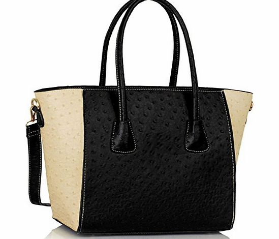 TrendStar Womens HandBags Designer Celebrity Style Faux Leather Shoulder Ostrich Tote Bags