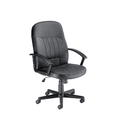 Trexus County Chair Seat Black Leather product image