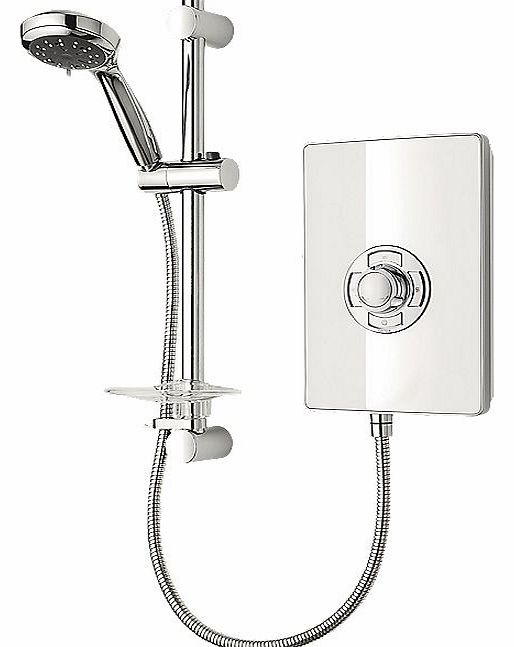 Manual Electric Shower White Gloss 9.5kW
