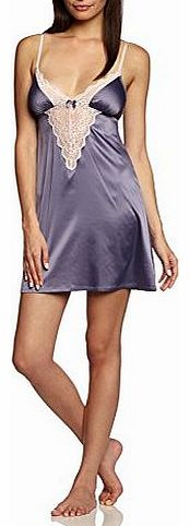 Triumph Womens Satin Lace Chemise NDW Negligee, Blue (Twilight Blue), Size 10 product image