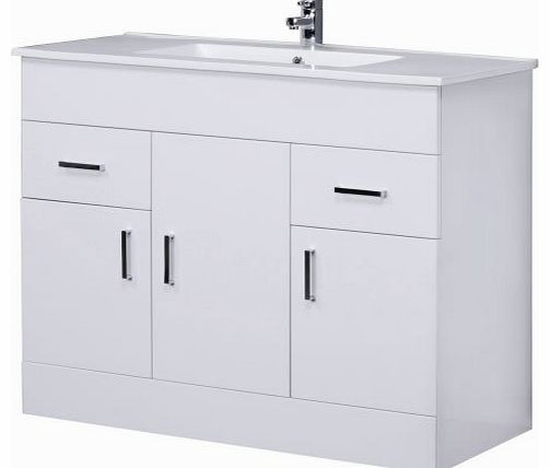 Trueshopping 1000mm White Bathroom Furniture Vanity Unit