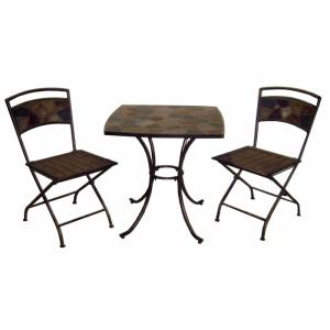 Bistro Set   Length: 68cm ( 27`` ) Width: 68cm ( 27`` ) Height: 71cm ( 28`` )   Length:60cm ( 23 1/2 - CLICK FOR MORE INFORMATION