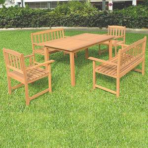 This superb garden set is unbelievable value.  Comprises:  ONE   TABLE TWO  ARMCHAIRS TWO  2 SEATER  - CLICK FOR MORE INFORMATION