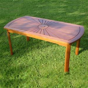 Trueshopping Hardwood Garden/Patio Coffee Table