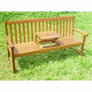 Ingenious design allows this beautiful Hardwood 3 seater bench to be converted very easily into a be - CLICK FOR MORE INFORMATION