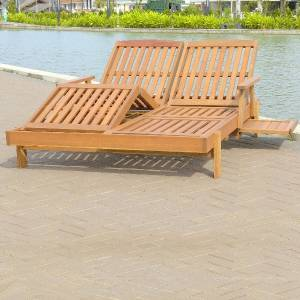 This `Thirlstone`  Hardwood Double Sun lounger is constructed from Shorea Hardwood. With reasonable  - CLICK FOR MORE INFORMATION