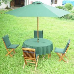 Hexagonal 2.75 m Parasol with 6 ribs and crank. Comes complete with four covers:  Blue / Green / Ter - CLICK FOR MORE INFORMATION