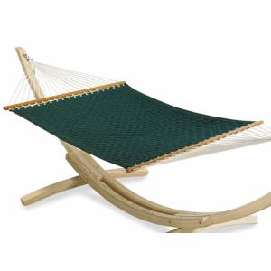 New for 2008 is this fabulous Double Hammock and wooden `Arc` frame. `Extreme` Outdoor comfort and s - CLICK FOR MORE INFORMATION