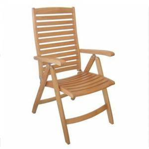 Beautifully crafted solid Teak Armchair This Teak reclining armchairs have a lovely fine sanded fini - CLICK FOR MORE INFORMATION