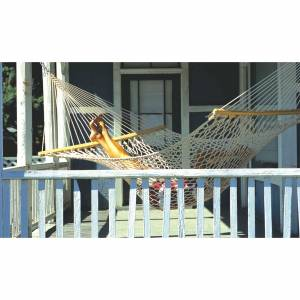 This is our beautiful Traditional Hammock. This double cotton rope Hammock is made with extra thick  - CLICK FOR MORE INFORMATION