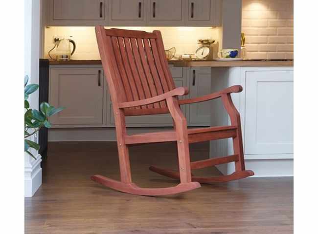 Trueshopping Wellwood Traditional Classic Rocking Chair Natural Finish Extremely Hard Wearing Garden / Kitchen / Patio Furniture product image