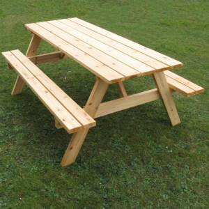 Superb sturdy hard wearing A Frame Picnic Table large enough to seat 8 people or six diners in comfo - CLICK FOR MORE INFORMATION