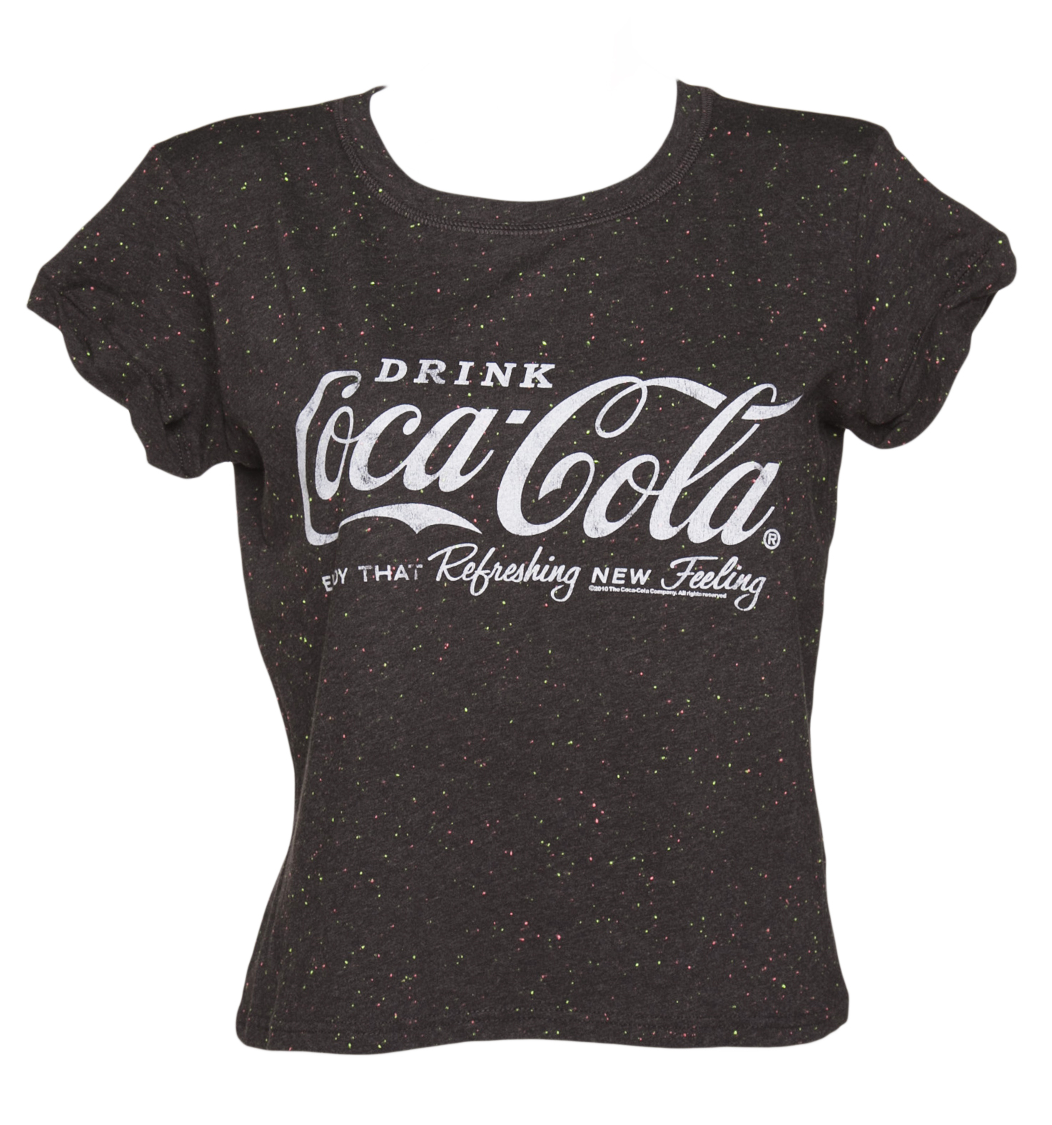 TruffleShuffle Ladies Coca-Cola Logo Speckled Rolled Sleeve product image