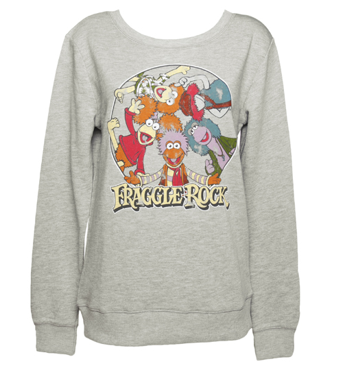 TruffleShuffle Ladies Grey Fraggle Rock Characters Sweater product image