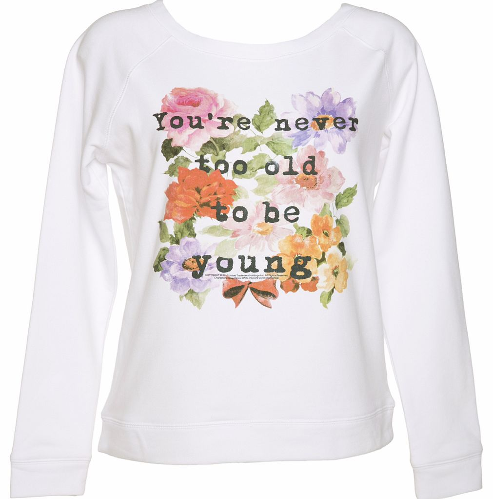 TruffleShuffle Ladies Snow White Never Too Old Wide Neck Sweater product image