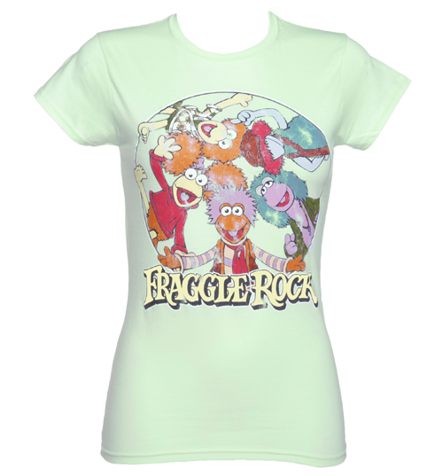 TruffleShuffle Ladies Turquoise Fraggle Rock Characters T-Shirt product image