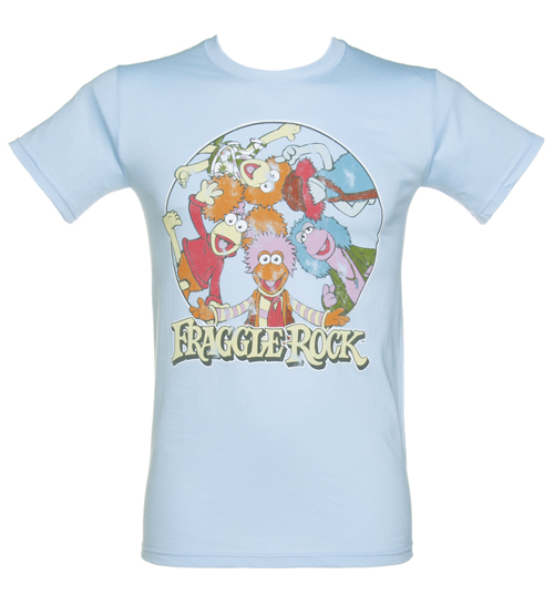TruffleShuffle Mens Blue Fraggle Rock Characters T-Shirt product image