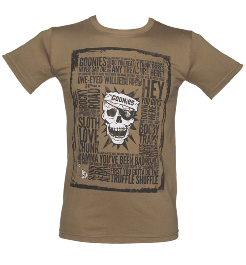 Mens Brown Goonies Quotes T-Shirt