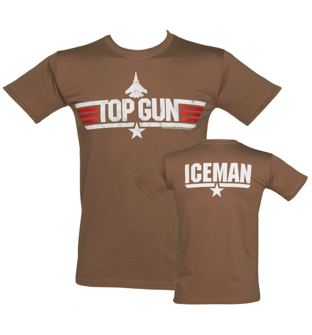 TruffleShuffle Mens Brown Top Gun Iceman T-Shirt product image