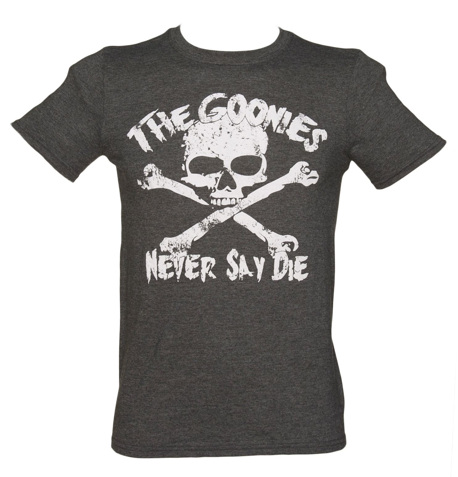 Mens Charcoal Goonies Never Say Die T-Shirt