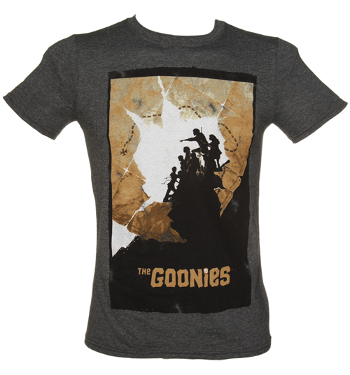 Mens Goonies Map Poster T-Shirt
