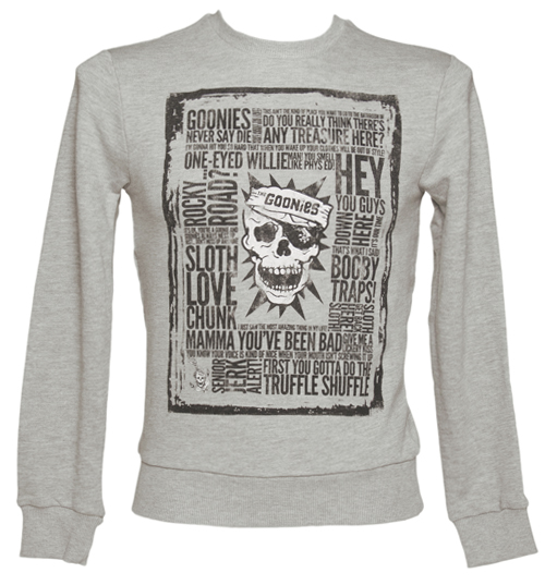 Mens Grey Goonies Quotes Sweater